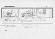 Storyboard sketch for the animated 70s television series